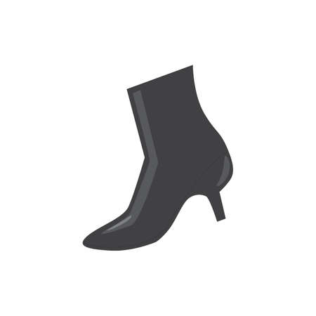 boot with heels Ilustrace