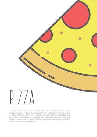 ピザ ポスター  イラスト・ベクター素材