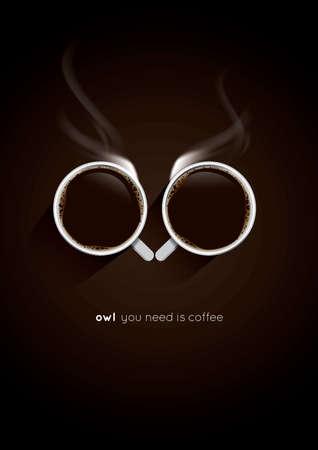 창조적 인 커피 포스터 일러스트