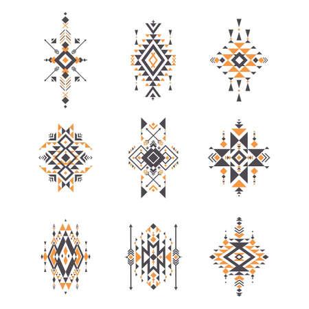 set of aztec patterns