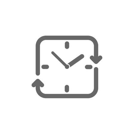 Klok met pijl Stock Illustratie