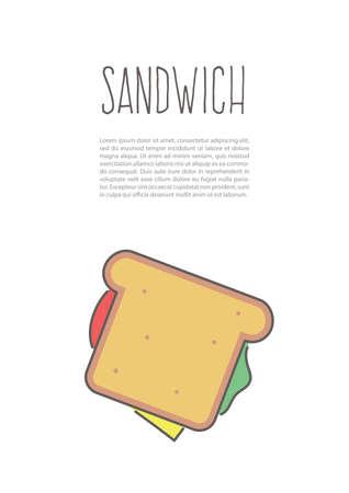 sandwich poster Ilustrace