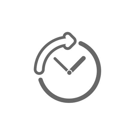 clock with arrow icon