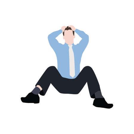 sentarse: Hombre de negocios frustrado