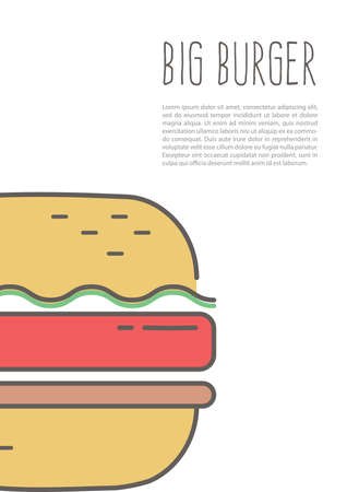 Big burger poster Çizim