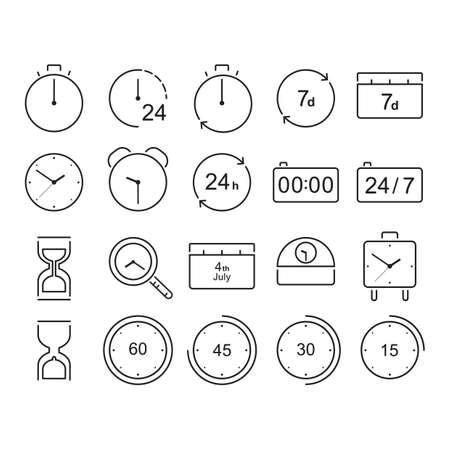 Sammlung von Zeiten Konzept Vektorgrafik