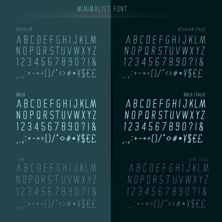 minimalist font set