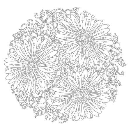 Conception florale de flocon de neige Banque d'images - 77301376