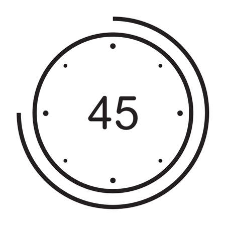 45 seconds icon Illustration