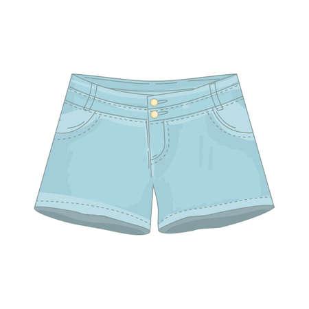 デニムのショート パンツ