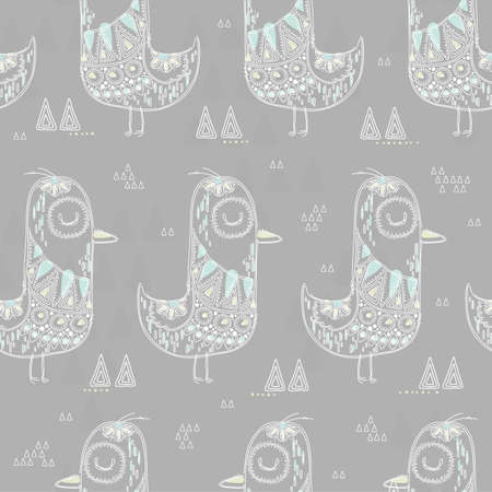 シームレスな鳥の設計  イラスト・ベクター素材