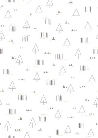 simple seamless tree design Illustration