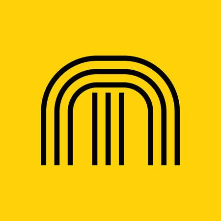 Simple letter M Ilustração