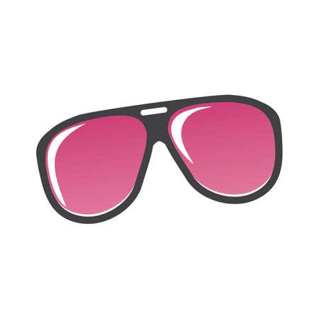 분홍색 선글라스 일러스트