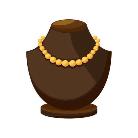 ディスプレイ上の真珠のネックレス