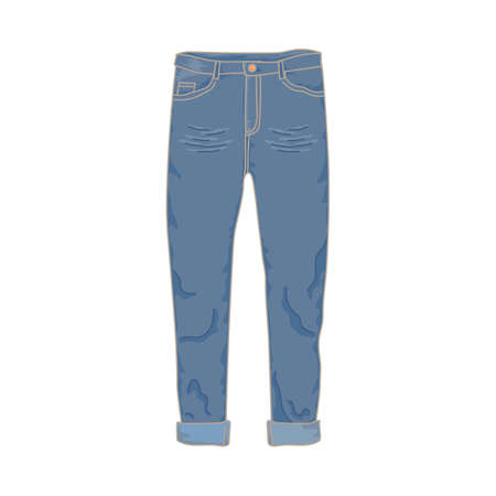 Long denim pants