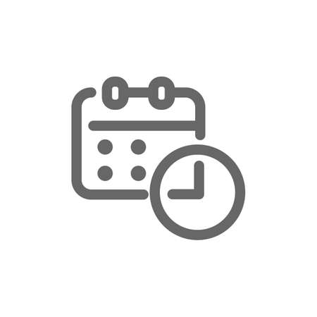 Making appointment icon Illustration
