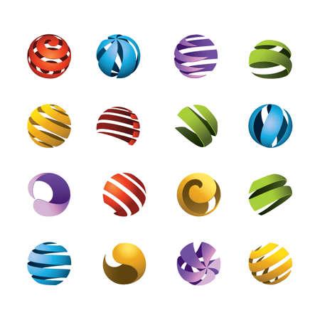 set of globe design icons