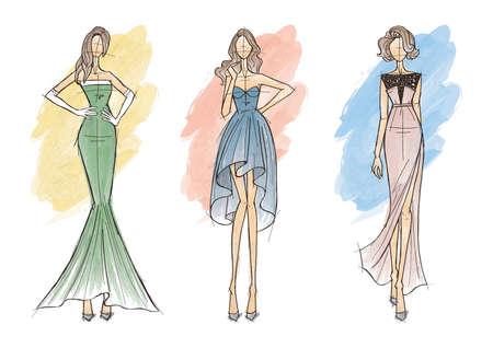 ファッション モデル スケッチのコレクション