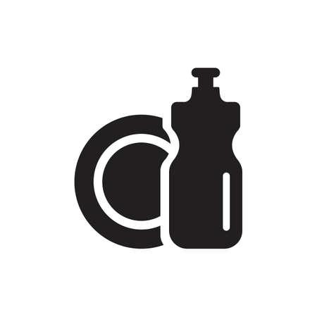 vaatwasmiddel met een plaat