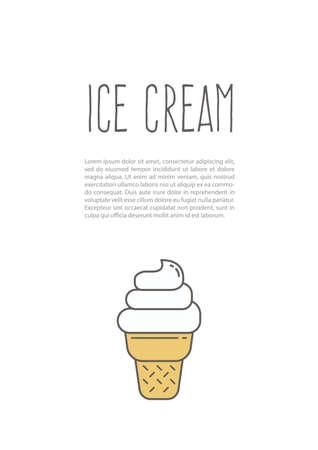 ice cream poster Ilustrace