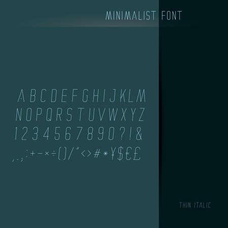 basic letters: minimalist font set