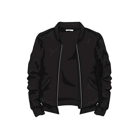 黒い革のジャケット  イラスト・ベクター素材