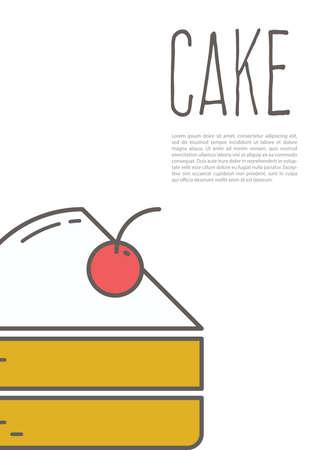 cake poster Ilustração