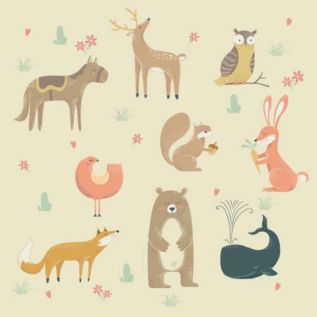 Collection of animal designs