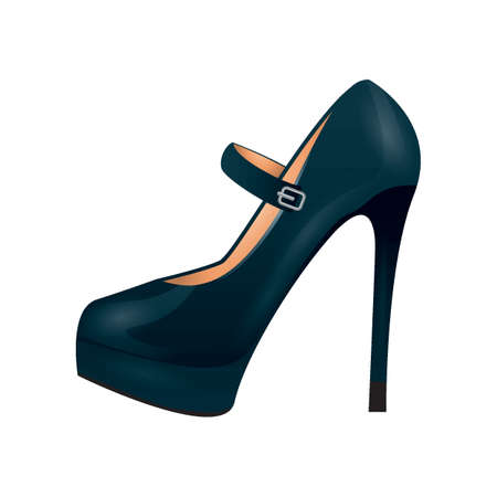 Ladies black high heel