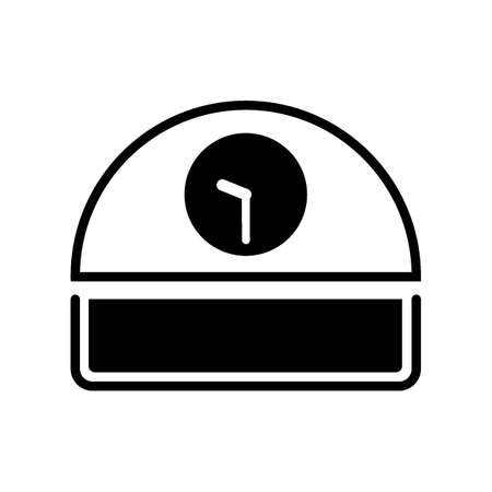 Desk clock icon Illustration
