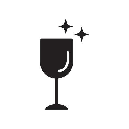 clean wine glass Ilustração