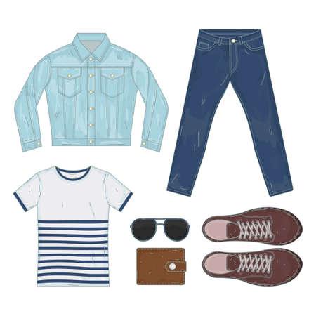 Men casual fashion set 向量圖像