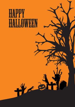 Halloween groet ontwerp