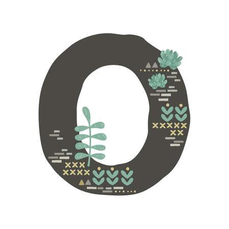 Succulent inspired letter O