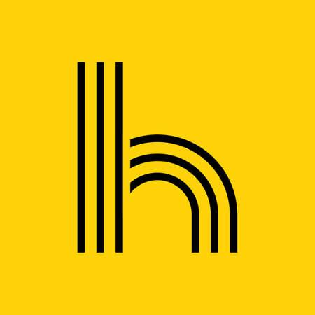Einfacher Buchstabe h Standard-Bild - 77301377