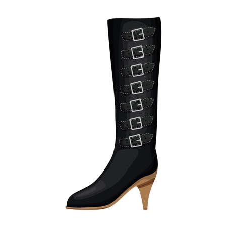 stiletto boot Illustration
