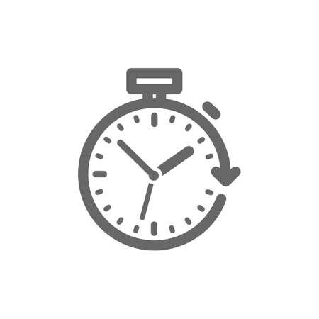 Stopwatch with arrow icon Ilustração