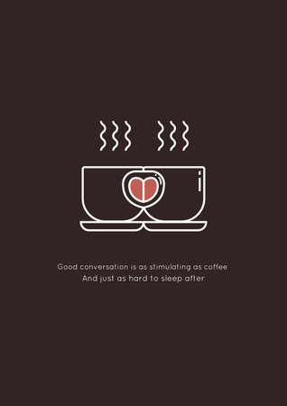 Coffee and conversation quote