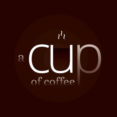 cup of coffee word design