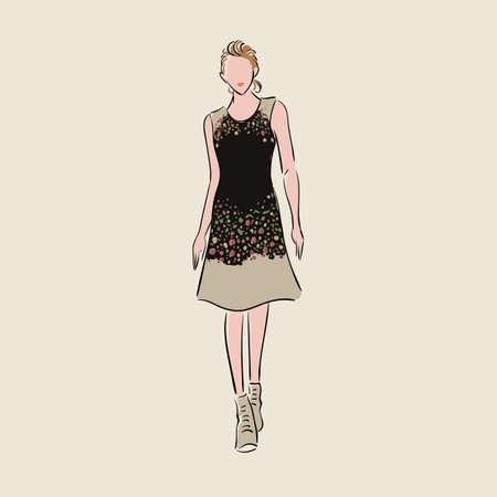 fashion model sketch Фото со стока - 77176767