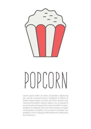 popcorn poster Ilustrace