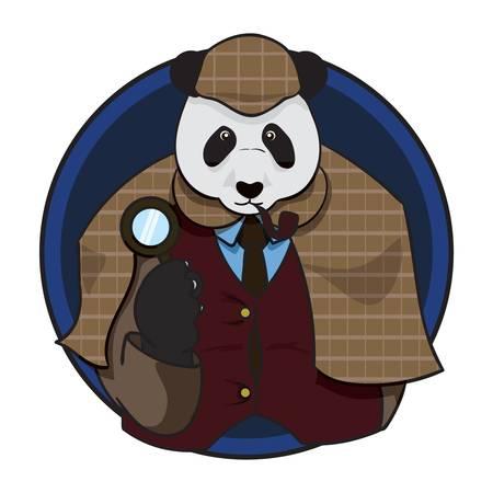 detective panda bear