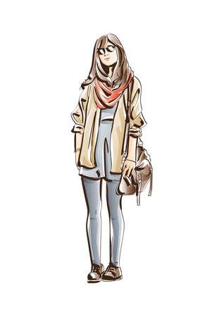 fashion model sketch