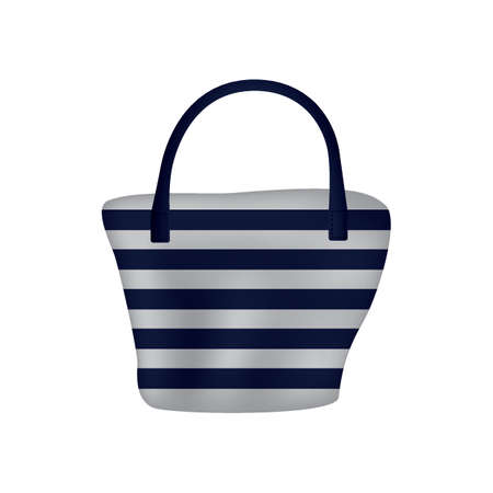 striped handbag