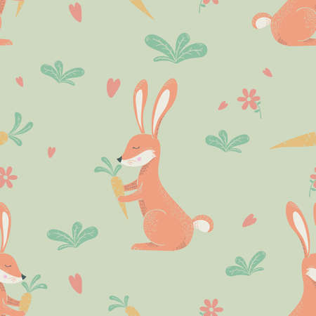 rabbits wrapping paper design