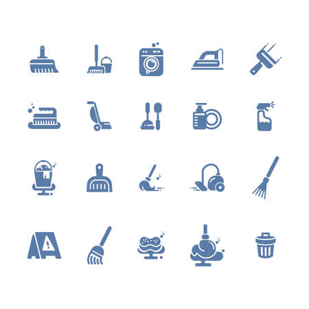 set of house cleaning tools Ilustrace