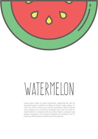 Watermeloen poster