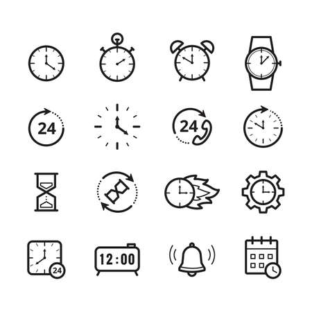 set of time icons
