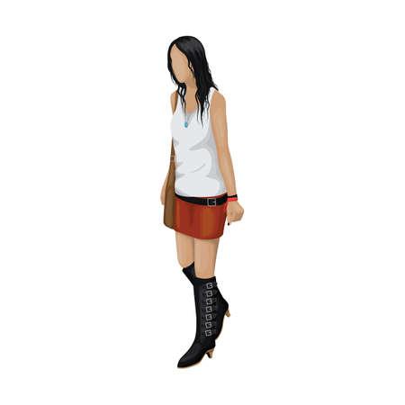 Modello di moda in abbigliamento casual Archivio Fotografico - 77329225